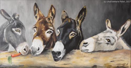 Eselei - Acryl auf Leinwand - 2017- 200x100 cm