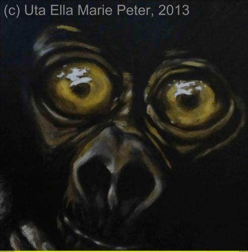 Kleiner Gorilla - Acryl auf Leinwand - 2013 -60 x 60 cm