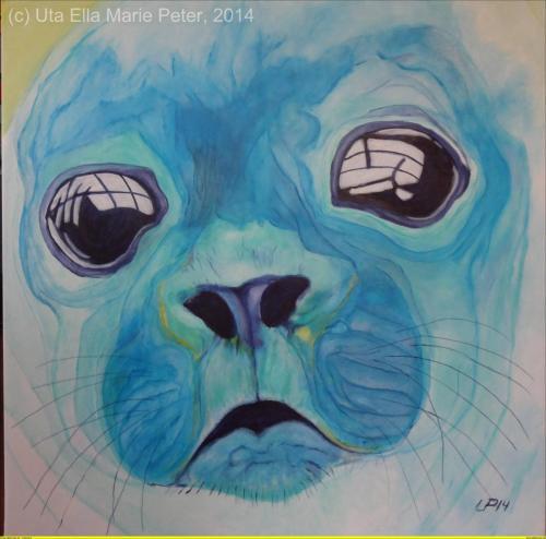 Wilde-Kreatur-Robb Stark - Acryl auf Leinwand - 2014 - 110 x 110 cm